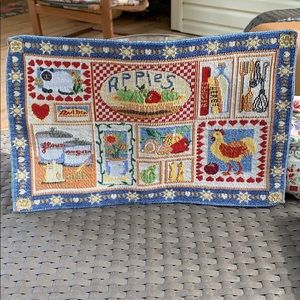 Set of 8 Country Style  tapestry placemats